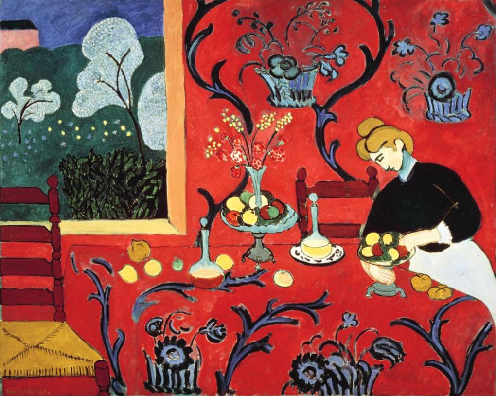 The Dessert: Harmony in Red, 1908 - Matisse